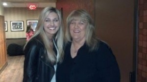 Ginger and Lanndon Back stage at the opry
